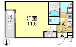 フジパレス駒川中野V番館[3O5号室号室]の間取り