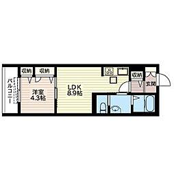 仮)ルナ ラパン[1階]の間取り