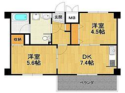 Forest Cort Itami[7階]の間取り
