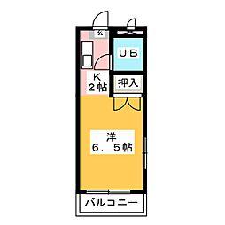 リバティパレス草薙[1階]の間取り