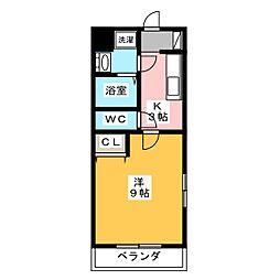 ブライト・リリカル[1階]の間取り