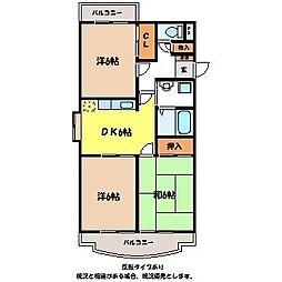 みのわ本町マンション[2階]の間取り