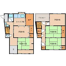 [一戸建] 奈良県香芝市上中 の賃貸【/】の間取り
