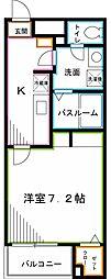 JR中央本線 西荻窪駅 徒歩18分の賃貸マンション 4階1Kの間取り