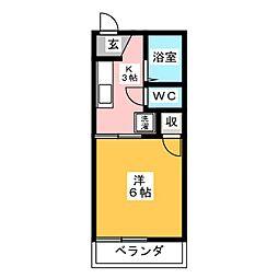 タウニー横井[2階]の間取り