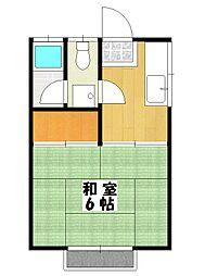 白樺ハイツ[2階]の間取り