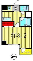 ヤサカハイム北小金[7階]の間取り