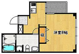 兵庫県神戸市兵庫区入江通3丁目の賃貸マンションの間取り