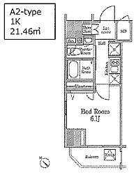 レジディア国立[12階]の間取り