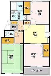 リ・ヴラン東川口 I[3階]の間取り