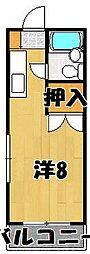 ヤングハイツカメリア[1階]の間取り