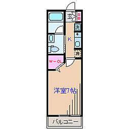 パフィー大倉山[1階]の間取り