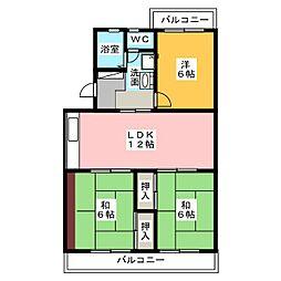 マイシャトー国府台[3階]の間取り