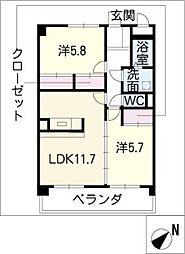 プリリアンスTAKEKOSHI[4階]の間取り