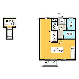 ピアニーフィールドA[2階]の間取り