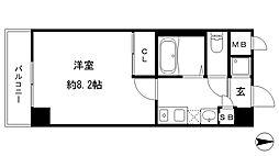 ダイドーメゾン岡本駅前[1階]の間取り