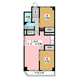 熊谷マンション[5階]の間取り