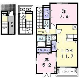 プリマリーベ[3階]の間取り