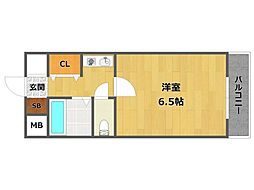 TYマンション[3階]の間取り