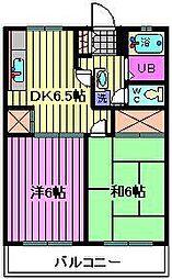 グリーンハイツC[2階]の間取り