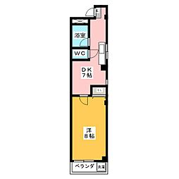 エルミタージュ I[2階]の間取り