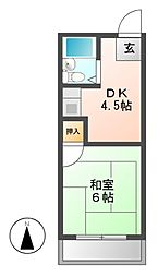 アーデルハイツ[2階]の間取り
