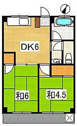 学園パールハイツ[1階]の間取り