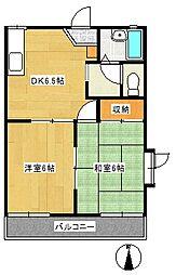 ハイツ藤原台[1階]の間取り