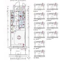 名古屋市営東山線 亀島駅 徒歩3分の賃貸アパート 10階1Kの間取り