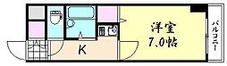 味原青山ビル[605号室]の間取り