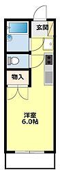 愛知県豊田市宮町7丁目の賃貸アパートの間取り