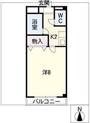 セジュール若宮[1階]の間取り