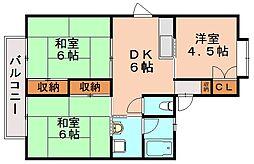 池田コーポ[2階]の間取り
