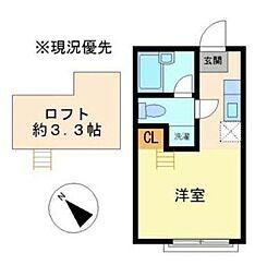 ヒルスミキ上倉田(ヒルスミキカミクラタ)[2階]の間取り