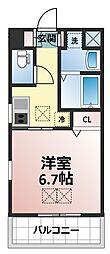 サンスクエア新大阪[6階]の間取り
