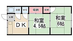 松ヶ丘ハイツ[203号室]の間取り