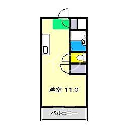 レジデンス優美15II[2階]の間取り