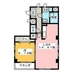 ラ・カミュ[2階]の間取り