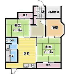 キタヤマビル[1階]の間取り