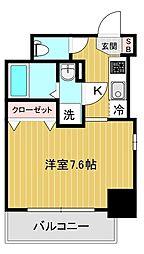 エスリード大阪城アクシス 4階1Kの間取り