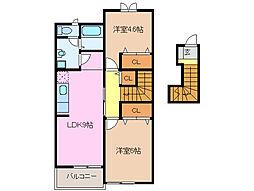 レジデンスブロッコリーA棟[2階]の間取り