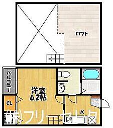 グラート箱崎[2階]の間取り