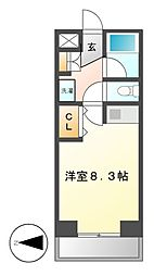 クラージュ474[3階]の間取り
