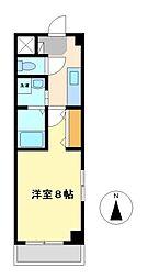 愛知県名古屋市西区菊井2丁目の賃貸アパートの間取り