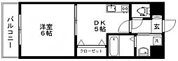 ルネッサンス21久留米六ツ門[E1405号室]の間取り