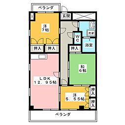 メゾンブロッサム[2階]の間取り