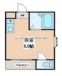 プレアール瓢箪山[4階]の間取り