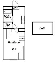 ベイシティ稲毛[1階]の間取り