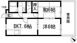 ラビーヌ仁川[1階]の間取り