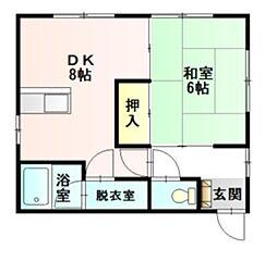大建アパート[202号室]の間取り